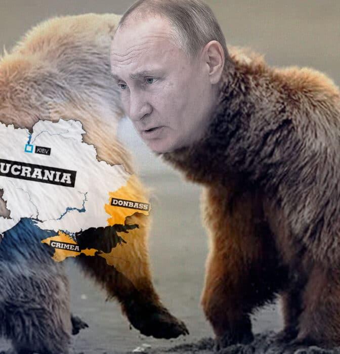 El oso ruso enseña las garras a Ucrania