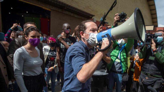 Pablo Iglesias, durante un mitin en Getafe.