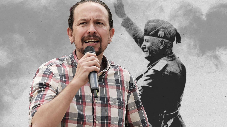 Imagen de Pablo Iglesias con Mussolini