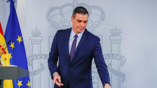 El presidente del Gobierno, Pedro Sánchez, en la presentación del Plan de Recuperación.