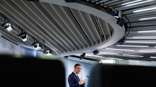 Pedro Sánchez, en rueda de prensa tras el consejo de ministros.