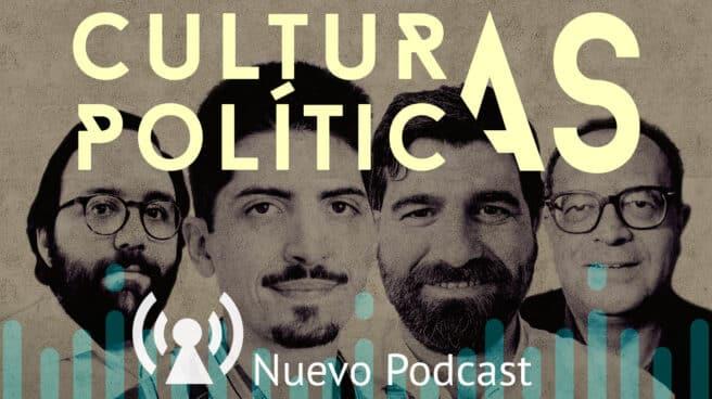 Imagen de los componentes del Podcast para el independiente de Culturas Políticas con Álvaro Petit Zarzalejos, Javier Collado, David Sarias y Juan Carlos Jiménez Redondo