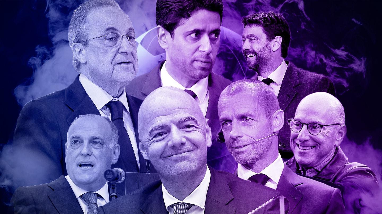 Florentino Pérez, Agnelli, Al Khelaifi, Ceferin, Infantino, Glazer y Tebas, protagonistas de la guerra de la Superliga