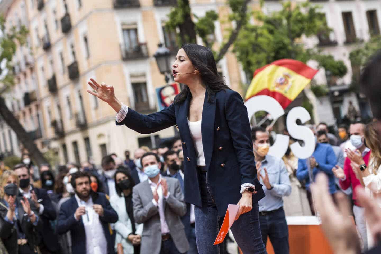La presidenta de Ciudadanos, Inés Arrimadas, durante un acto del partido.