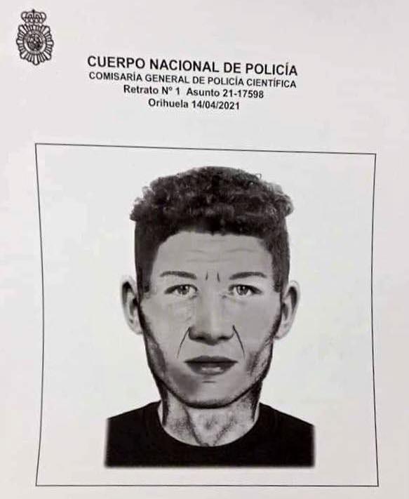 Retrato robot del violador en busca y captura que que actúa en Alicante y Murcia
