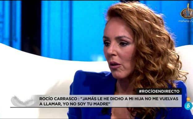 Rocío Carracos, durante su entrevista en el plató de 'Rocío, contar la verdad para seguir viva'.
