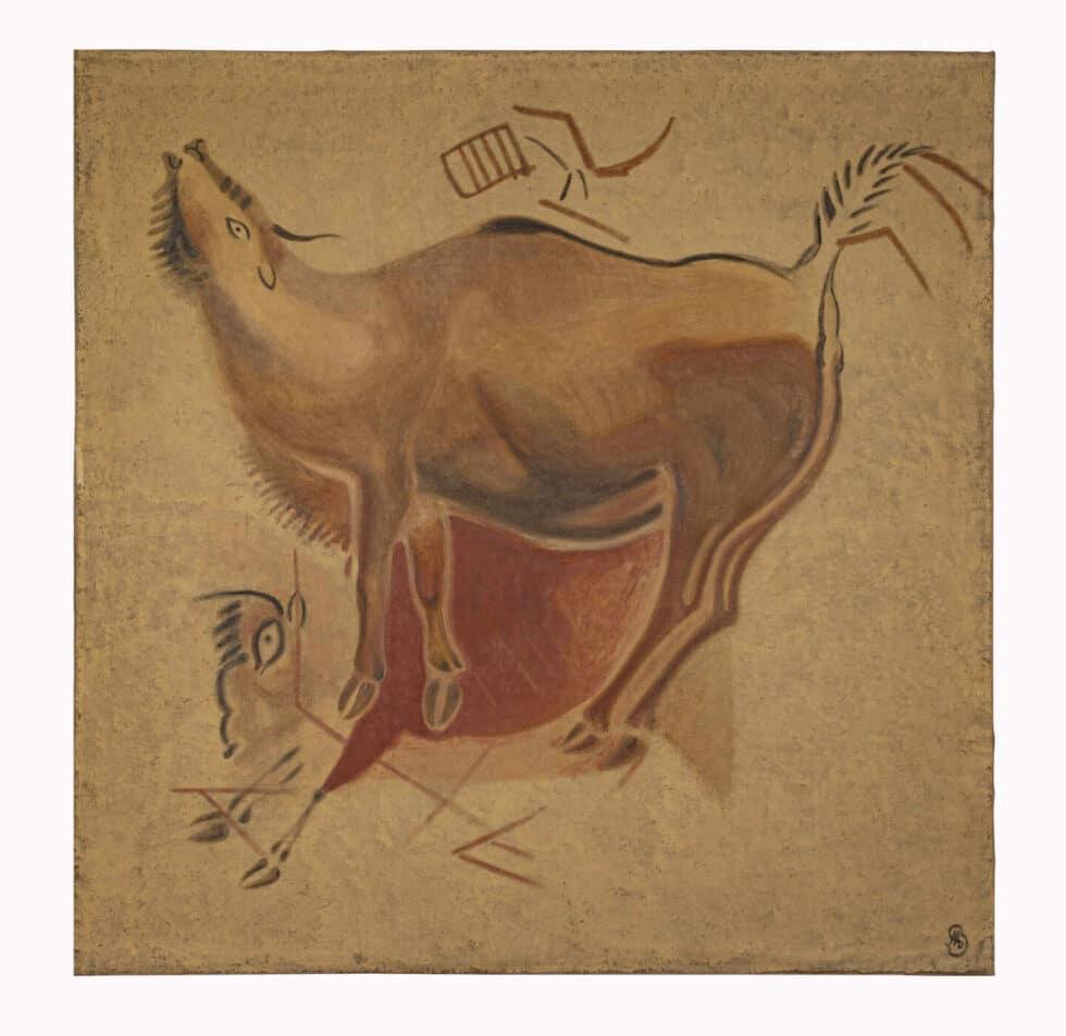 Cuadros con representaciones de animales del techo de los polícromos de la Cueva de Altamira