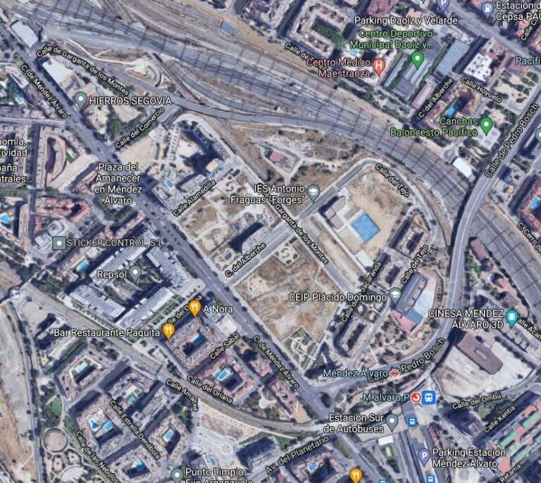Adif saca 96,5 millones en la puja por los solares edificables de Méndez Álvaro