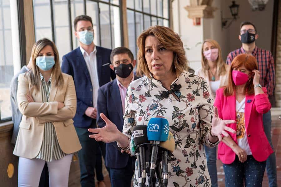La ex presidenta de la Junta de Andalucía, Susana Díaz.