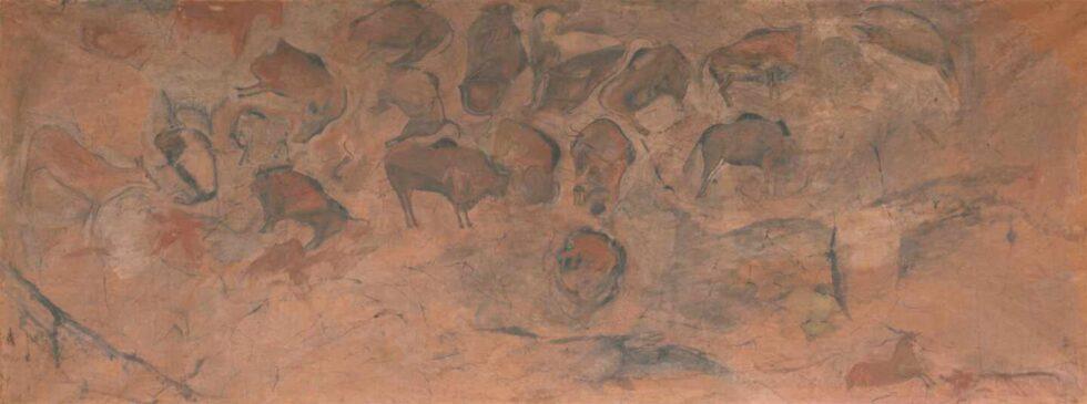 El techo de polícromos de la cueva de Altamira