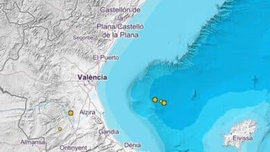 El Golfo de Valencia registra dos terremotos de magnitud 2,6 y 2,5