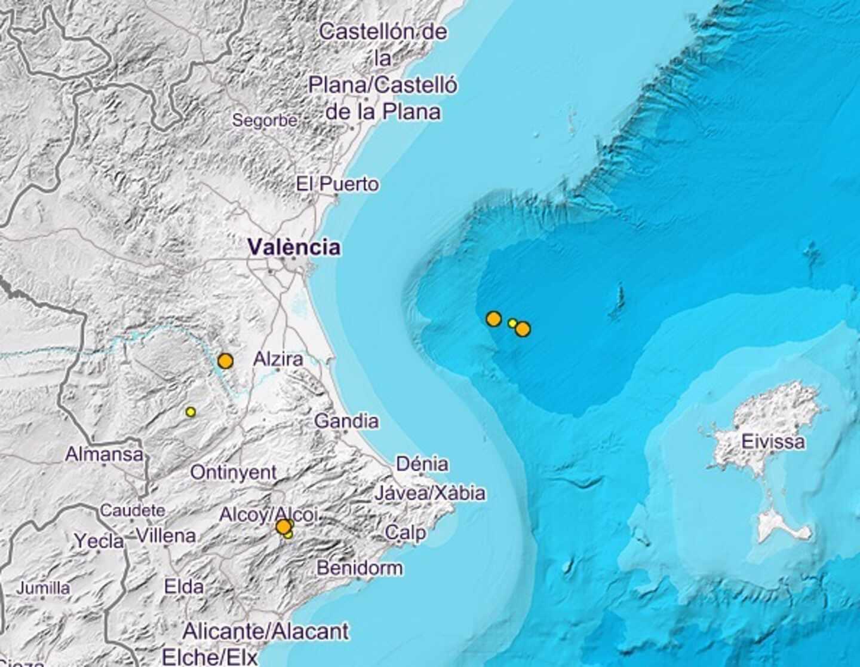 Terremotos en el golfo de Valencia.