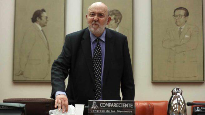 El presidente del CIS, José Félix Tezanos, en una comparecencia en el Congreso de los Diputados.