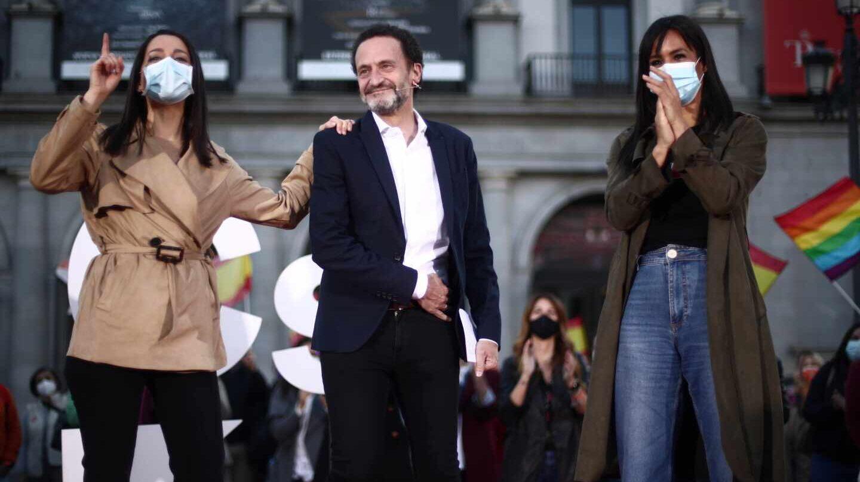 Acto de campaña de Ciudadanos, con Edmundo Bal, Inés Arrimadas y Begoña Villacís