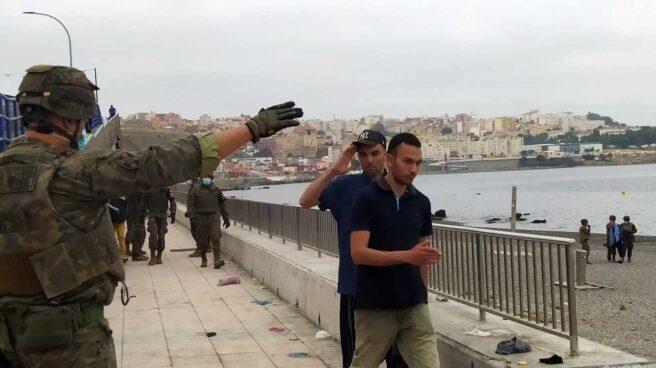 Miembros del Ejército en Ceuta.