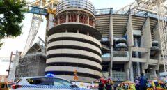 Sofocado un pequeño incendio en el Bernabéu que provocó una columna de humo