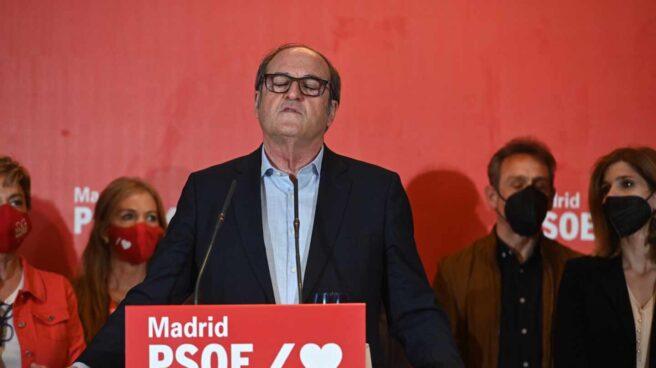 Angel Gabilondo, en la noche electoral del 4-M.
