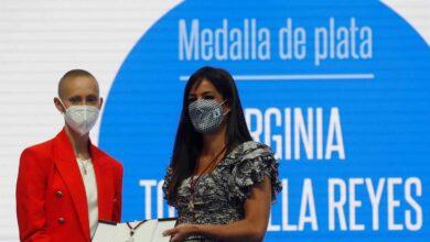 """La futbolista Virginia Torrecilla, medalla de Plata de Madrid, pide a las personas con cáncer que """"nunca se rindan"""""""