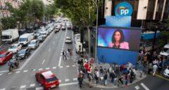Así está la sede de Génova a la espera del recuento electoral