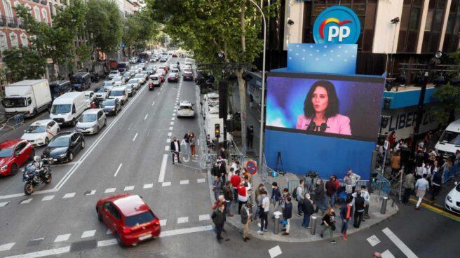 Ambiente en la sede del Partido Popular