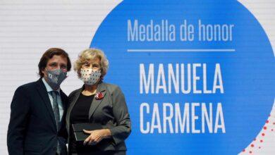 """Almeida se deshace en halagos hacia Manuela Carmena:  """"Su compromiso con Madrid es completamente innegable"""""""