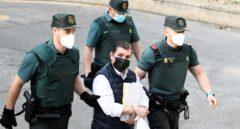 El acusado César Román, conocido como el Rey del Cachopo, a su llegada a la Audiencia Provincial de Madrid