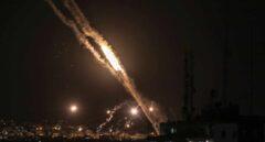 Cohetes lanzados desde la Franja de Gaza