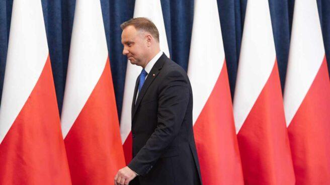 El presidente de Polonia, Andrzej Duda, en el Palacio Presidencial.