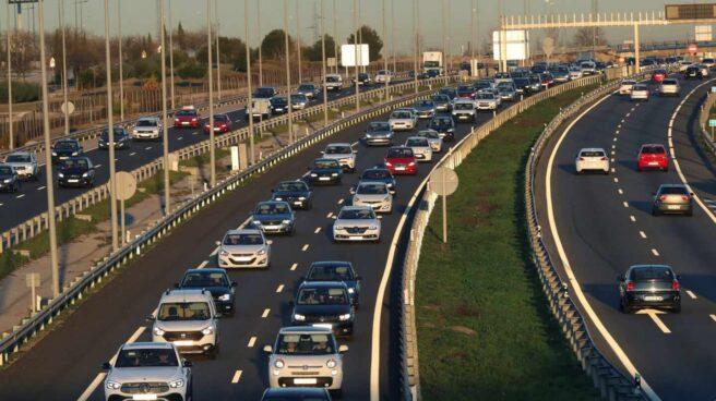 Tráfico en la A-5, en Madrid.