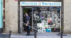 Musical Barquillo, en el número 32, uno de los pocos locales de sonido que resisten en la calle Barquillo