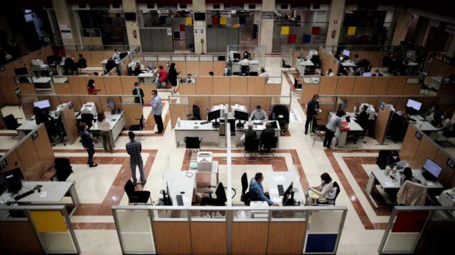 Vista general de una oficina de la Agencia Tributaria.