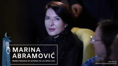 Marina Abramović, Premio Princesa de Asturias de las Artes 2021