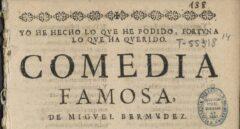Descubren en la Biblioteca Nacional una comedia desconocida de Lope de Vega