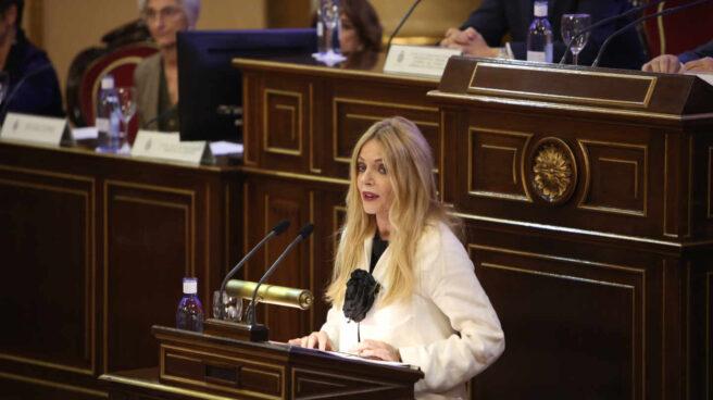 La presidenta del Observatorio de Violencia de Género del Consejo General del Poder Judicial (CGPJ), Ángeles Carmona, interviene en el Senado.