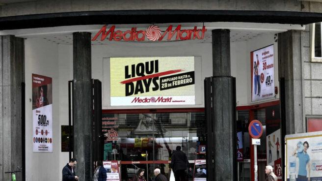 Entrada de una tienda Media Markt en Madrid.
