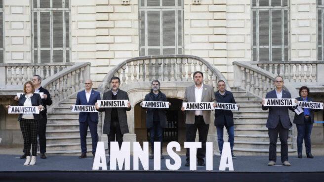Acto público de Junqueras y el resto de los presos del procés.
