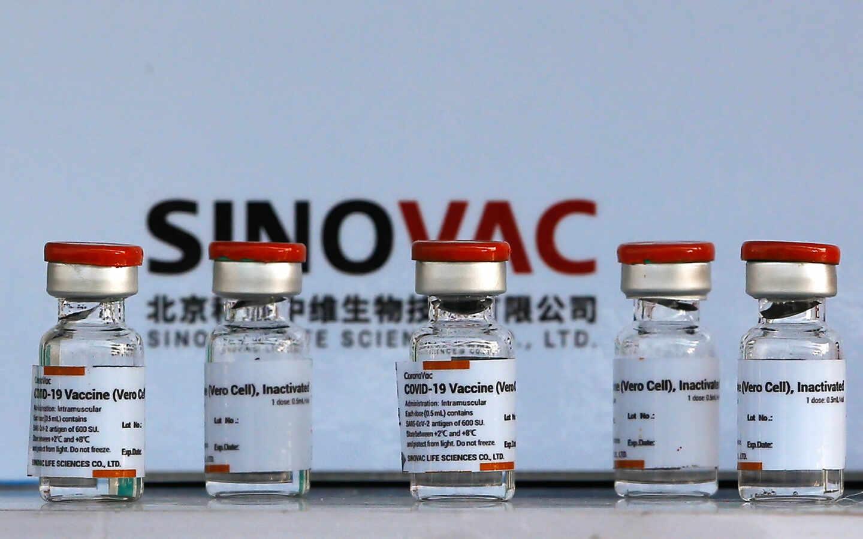 Viales de la vacuna china de Sinovac, llamada CoronaVac.
