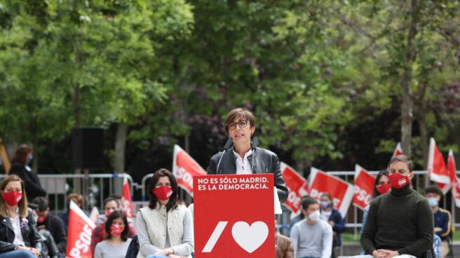 La directora general de la Guardia Civil, María Gámez, durante un acto electoral del PSOE