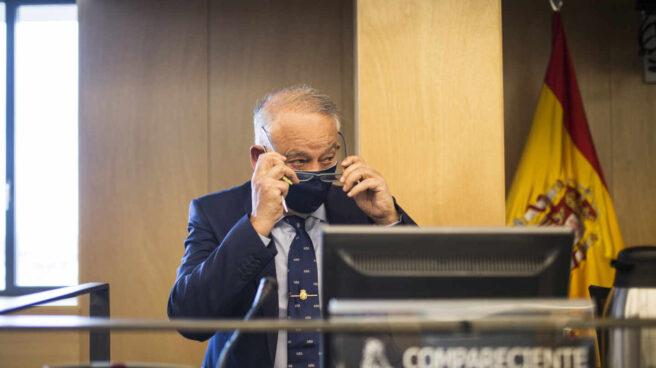 El ex director adjunto operativo (DAO) de la Policía Nacional Eugenio Pino, en su comparecencia en el Congreso.