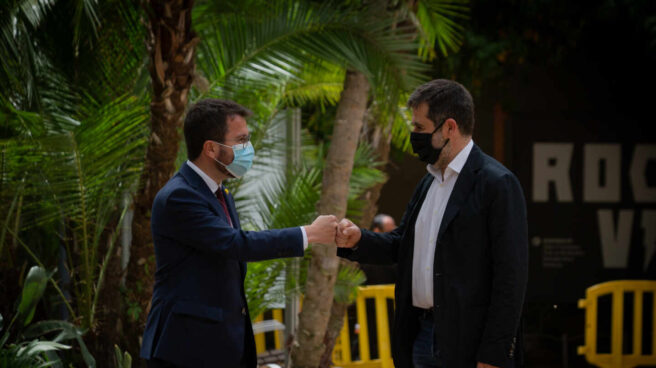 Pere Aragonès y Jordi Sánchez.