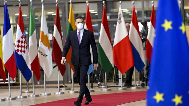 Pedro Sánchez, en el Consejo Europeo.