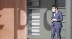 El president de la Generalitat, Pere Aragonès, a su salida de la cárcel de Lledoners.