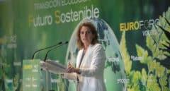 La vicepresidenta cuarta y ministra para la Transición Ecológica y el Reto Demográfico de España, Teresa Ribera, interviene durante el EUROFORO Vocento