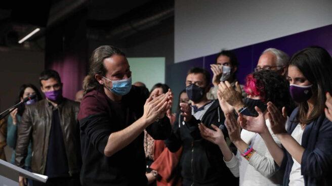 Pablo Iglesias, en su despedida de la política el 4-M.