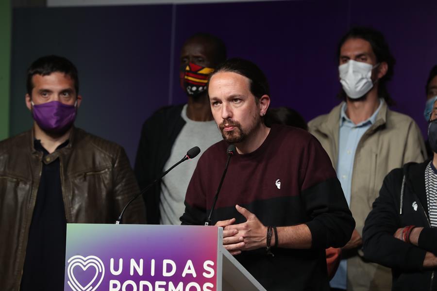 Pablo Iglesias presenta su dimisión.