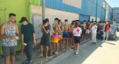 Llegada de inmigrantes a nado a Ceuta