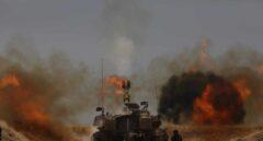 La artillería israelí en acción en la frontera con Gaza