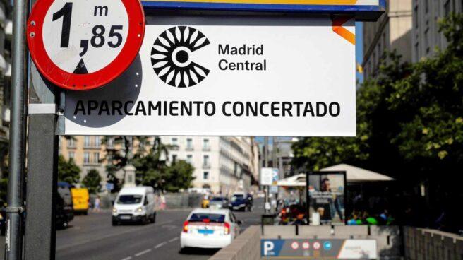 Cartel de Madrid Central.