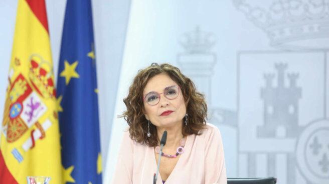 La ministra portavoz y ministra de Hacienda, María Jesús Montero, en una rueda de prensa posterior al Consejo de Ministros.