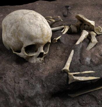 Científicos españoles descubren el enterramiento de un niño hace 78.000 años